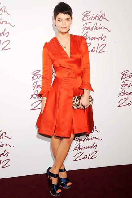 Pixie Geldof - British FashionAwards 2012; in Jonathan Saunders