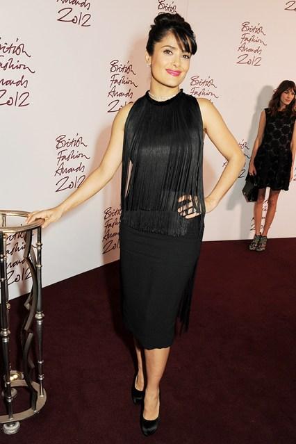 Salma Hayek - British Fashion Awards wearing Stella McCartney dress