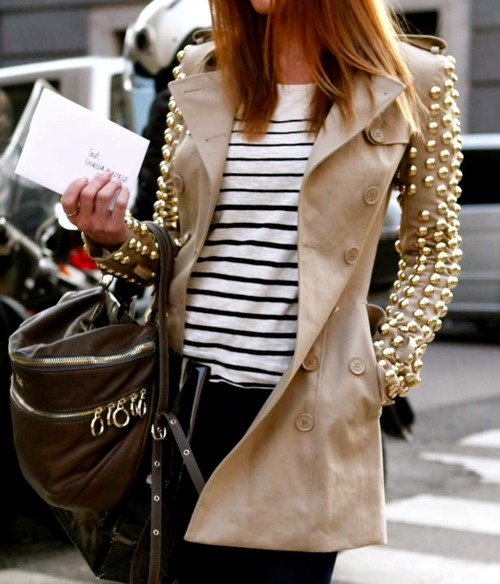 studded coat Coat Styles For Winter 2013! What To Wear?