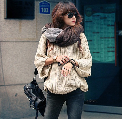 sweater style street Knitwear Styles For 2013 Winter! Comfort Meets Glam In Sweaters, Jumpers & Cardigans!