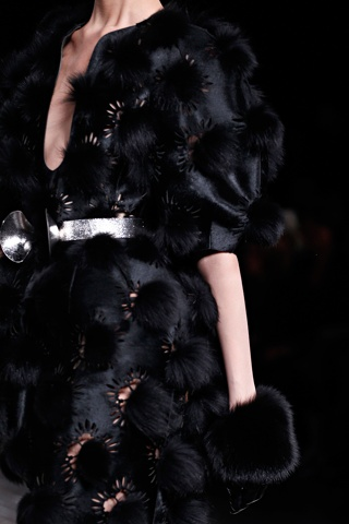 Alexander McQueen Fall Winter 2012 - Fur Pom Pom Laser Cut Gloves
