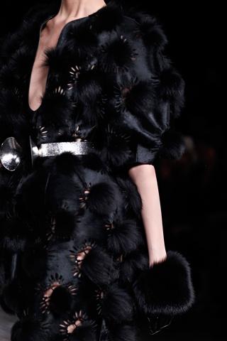 Alexander McQueen Fall Winter 2012 - Fur Pom Pom Laser Cut Gloves