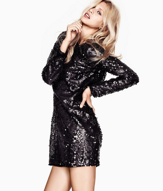 black-sequined-mini-party-dress-new-years-eve