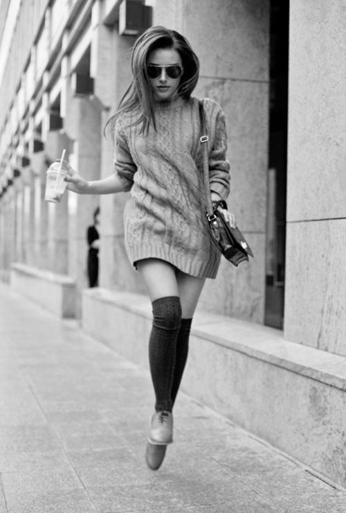 over-the-knee-socks-knitted-dress