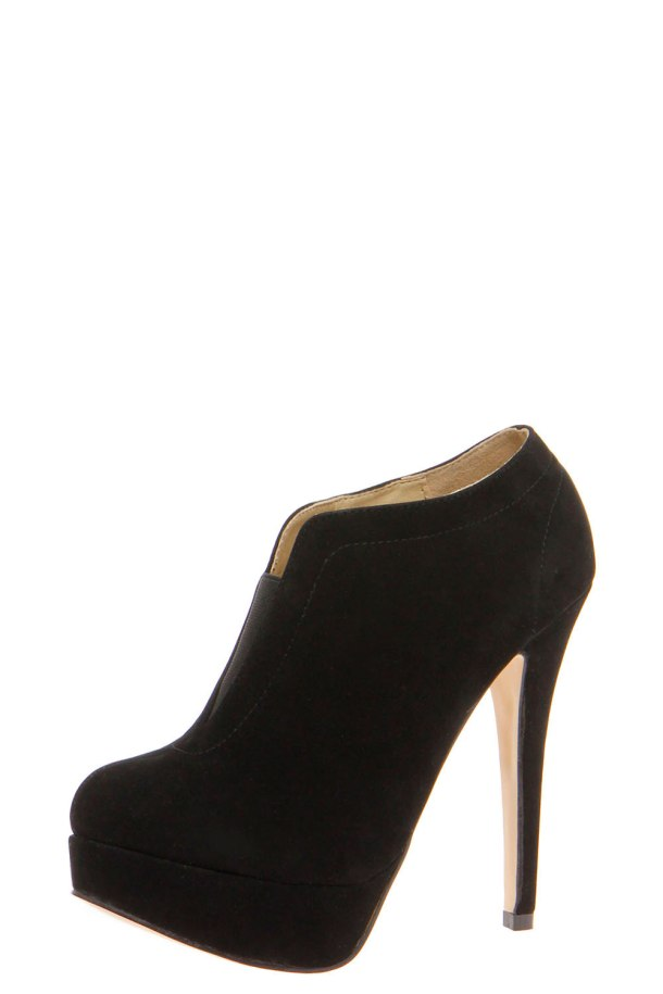 Frankie Black Elastic Insert Shoe Boots - $40.00 from bohoo.com