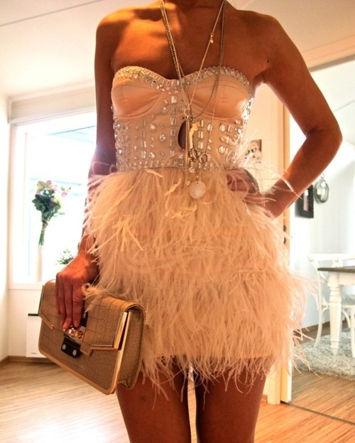 party-dress-feathers-short-sequines