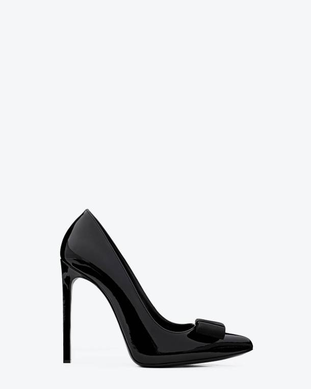 Saint Laurent Classic Saint Laurent Tuxedo Pump In Black Patent Leather  $685.00