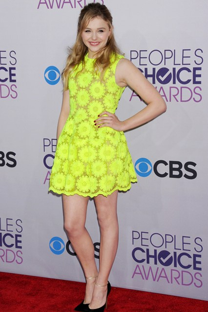 Chloe Moretz at People's Choice Awards 2013, photo via Vogue