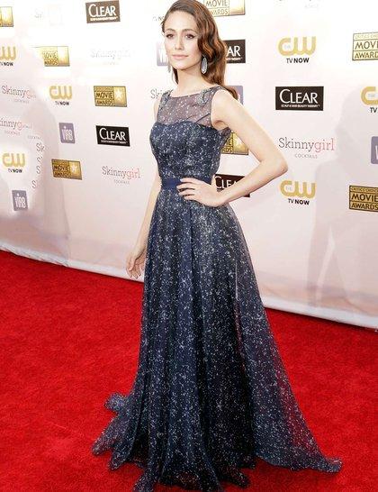 Emmy Rossum at Red Carpet Critics Choice Awards 2013