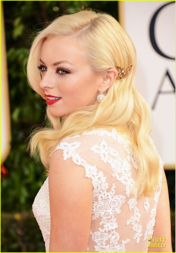 francesca-eastwood-golden-globes-2013-makeup-hair