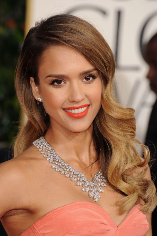Jessica-Alba-Golden-Globes-2013-beauty-makeup-hair
