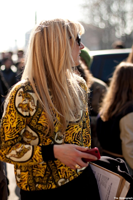 Milan+Fashion+Week+Street+Style+Women+Animal+Print+Shirt