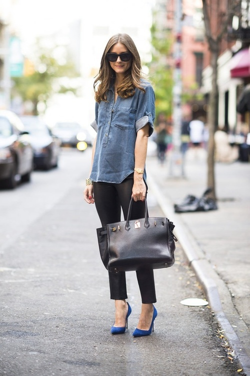 office-look-big-bag-denim-shirt