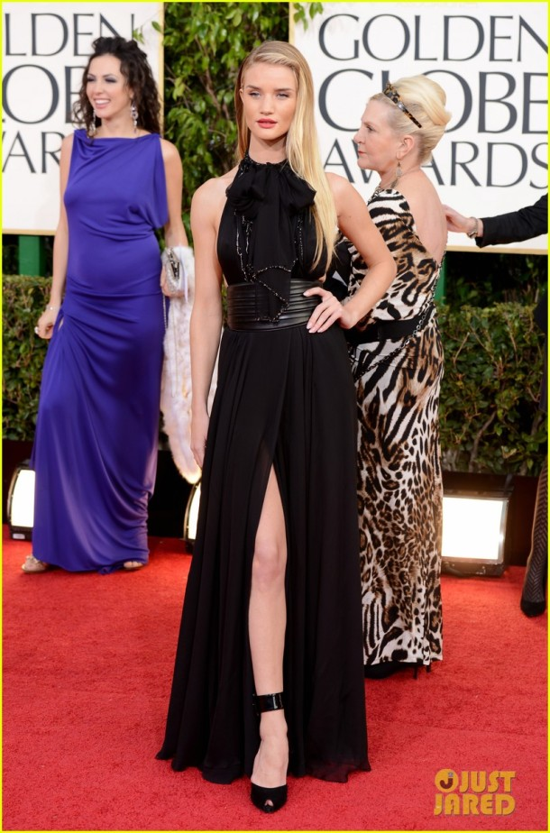rosie-huntington-whiteley-jason-statham-golden-globes-2013-dress