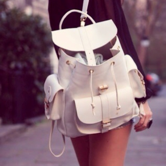 white-backpack-style
