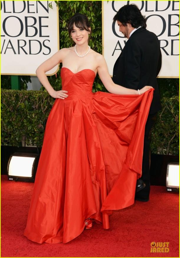 zooey-deschanel-golden-glboes-2013-red-carpet-dress