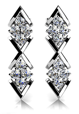 Diamonds in Diamond Earrings