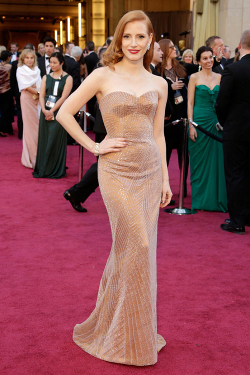 Jessica-Chastain-oscars-2013-red-carpet