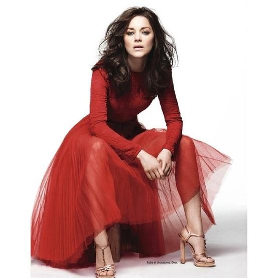 marion-cottilard-red-dress