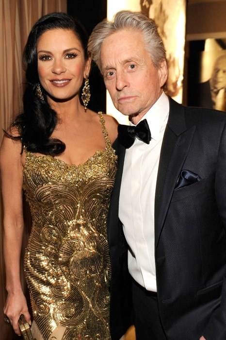 vanity-fair-oscar-party-2013-Catherine-Zeta-Jones-Michael-Douglas