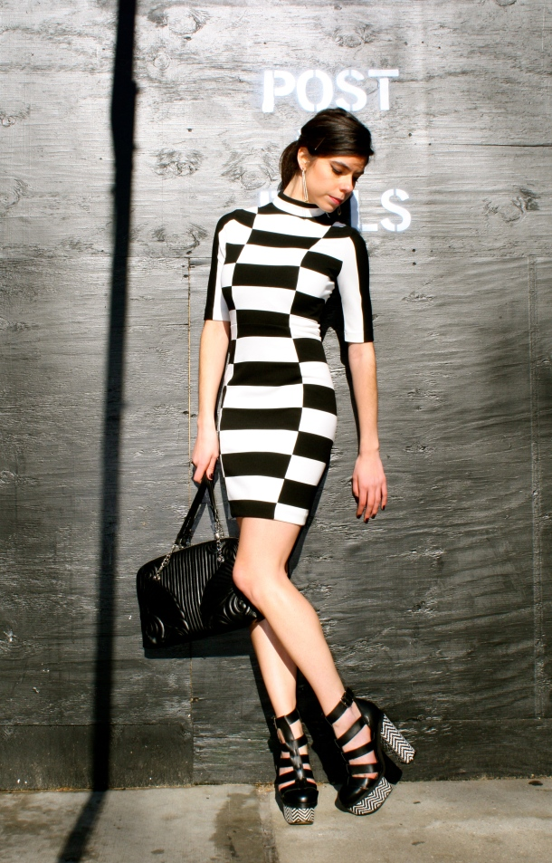 black-white-square-dress