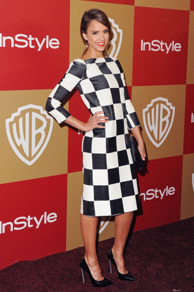 jessica-alba-checkerboard-dress