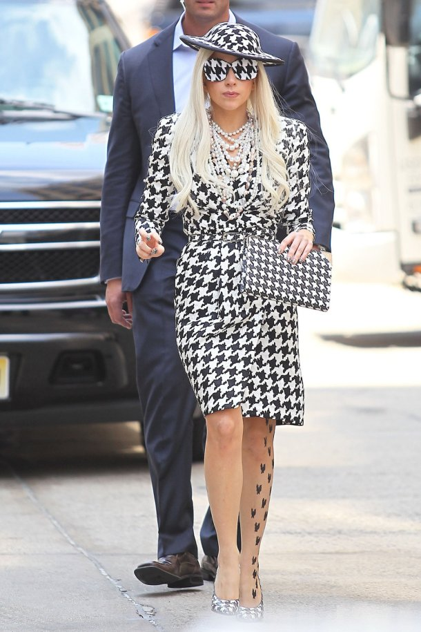 lady_gaga_checkered_dress