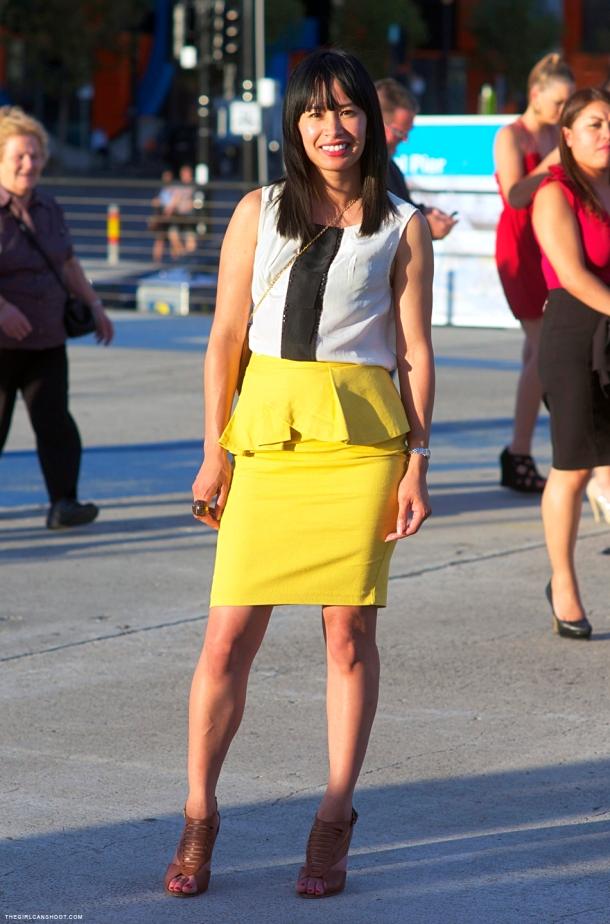 yellow-peplum-skirt