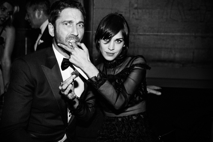 alexachung gerard butler metgala party Punk Party At The Met Gala!