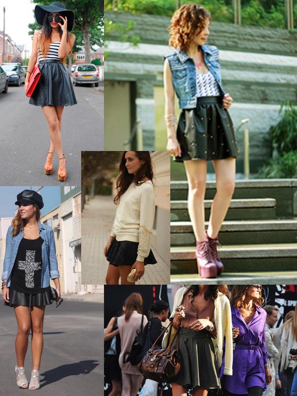 black-leather-skater-skirts