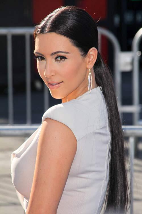 kimk-ponytail