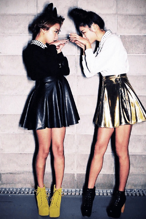 leather-glam-skater-skirts