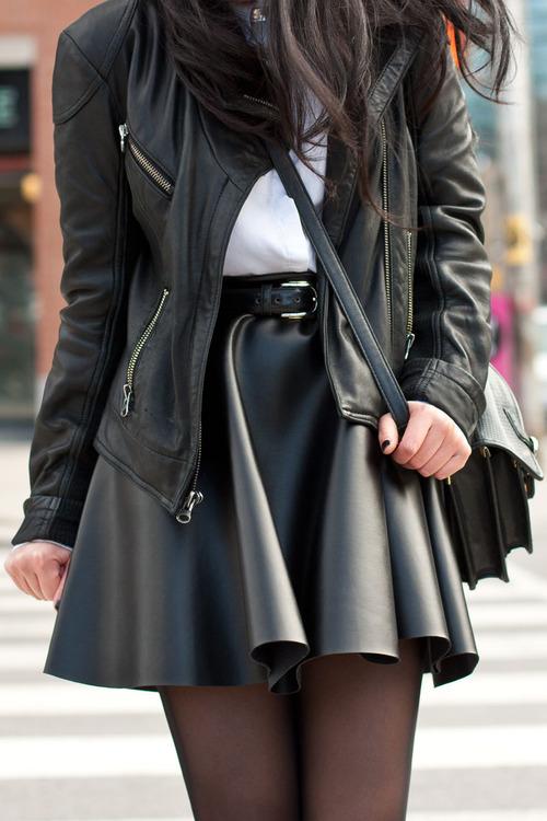 leather-skater-skirt-look