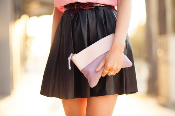 leather-skater-skirt-trend