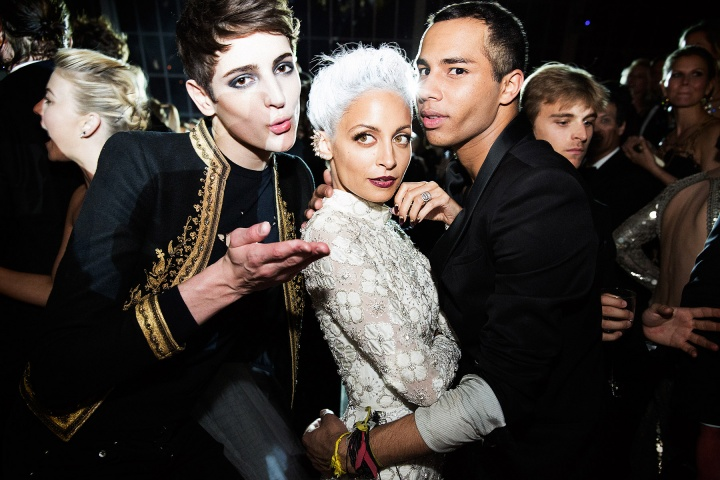 nicolerichieolivierrousteing metgala party Punk Party At The Met Gala!