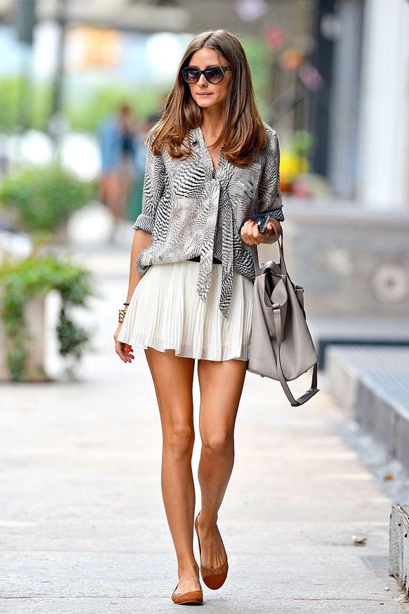 olivia palermo-skater-skirt-look