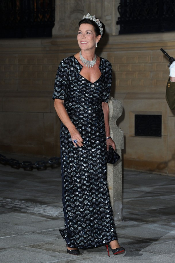 Princess-Caroline-of-Hanover-Wearing-a-Chanel-Dress