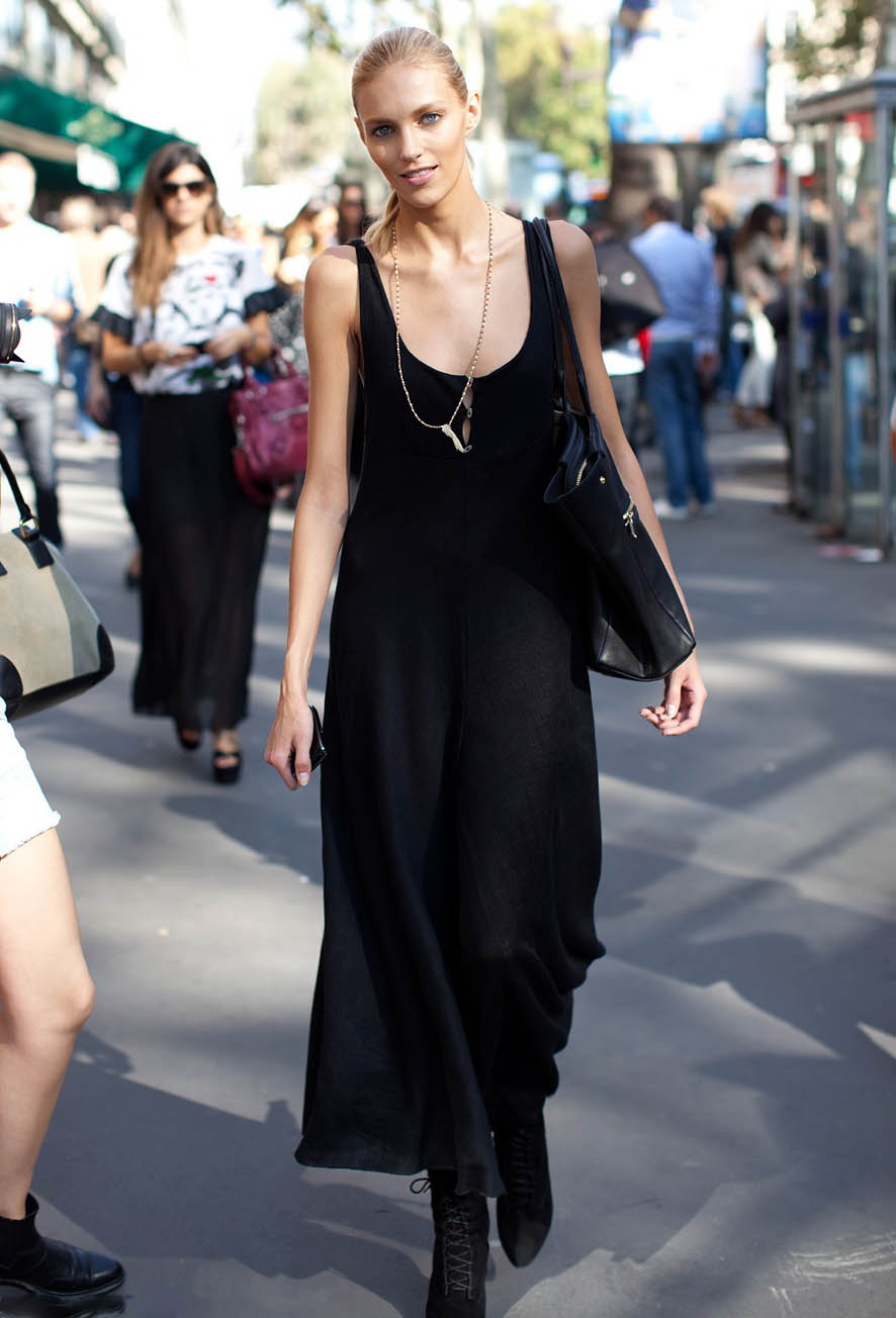 street-style-2013-summer-black-dress
