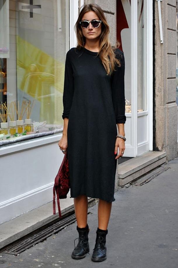 Streetstyle-siyah-elbise