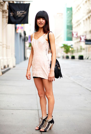 camisole-lingerie-dress=streetstyle