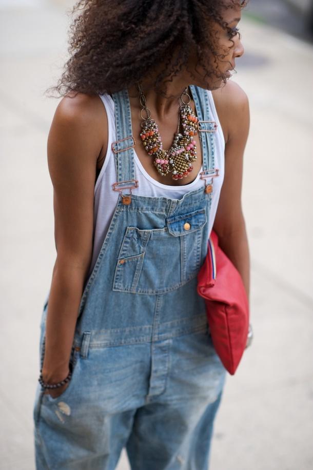 denim-overalls-white-top-style