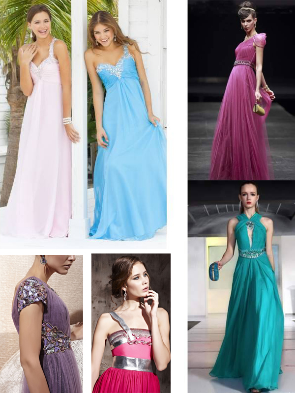 all kinds of evening dresses