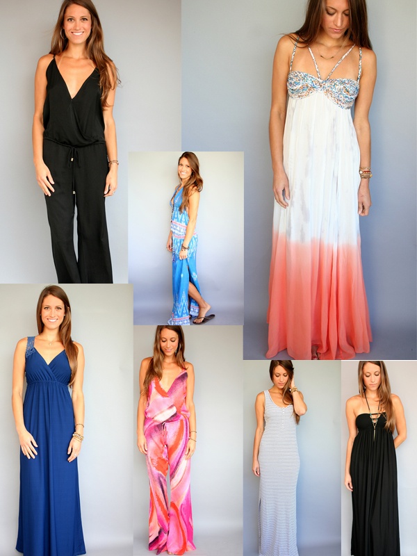 Rosie True: maxi dresses & jumpsuits