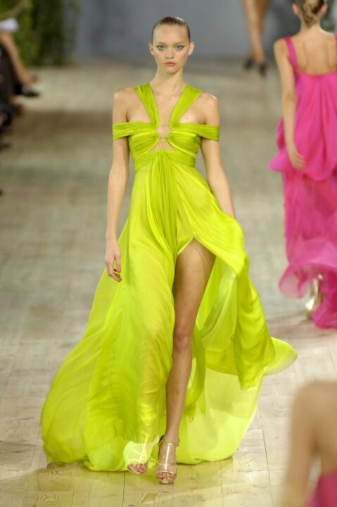 catwalk-neon-dress