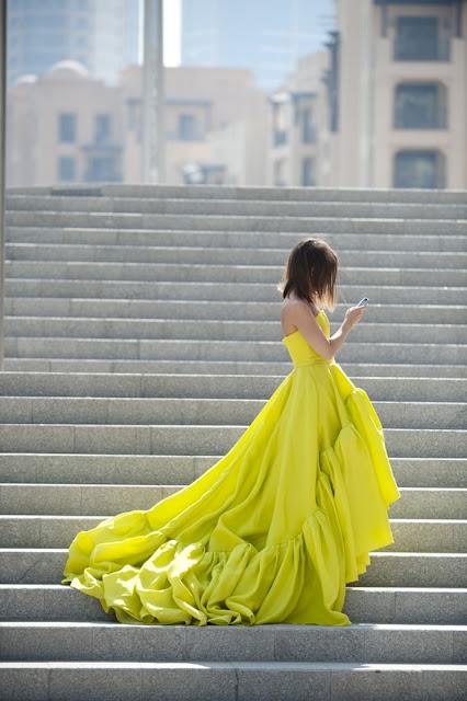 dramatic-neon-dress