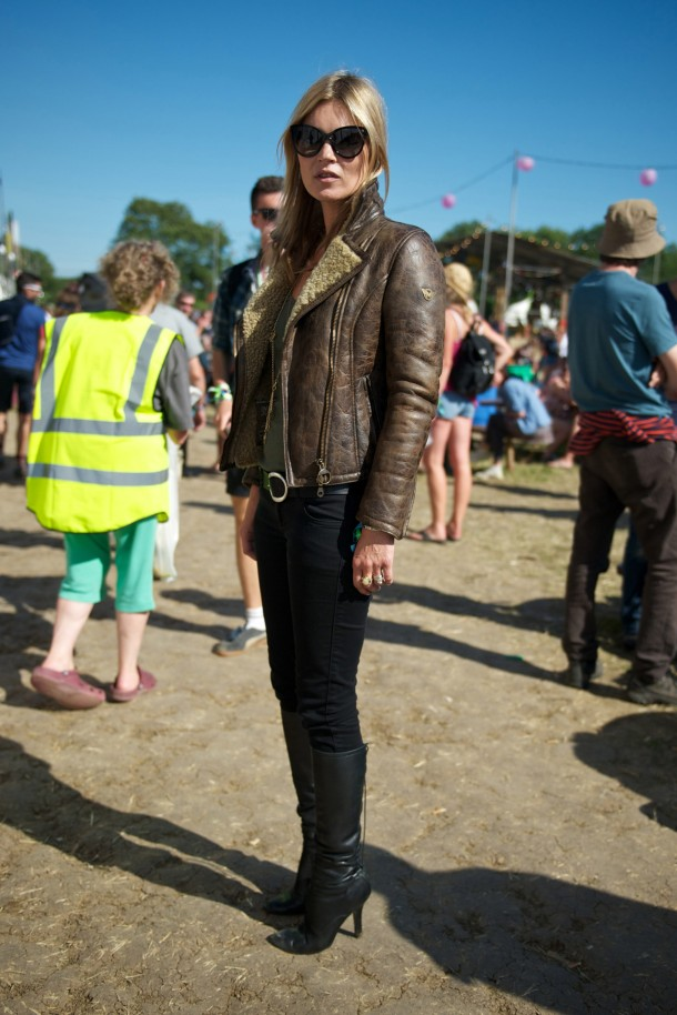 Kate Moss At Glastonbury Festival 2013
