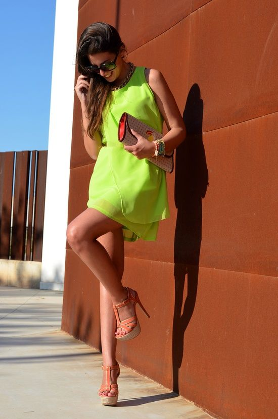 lime-neon-dress-street-style
