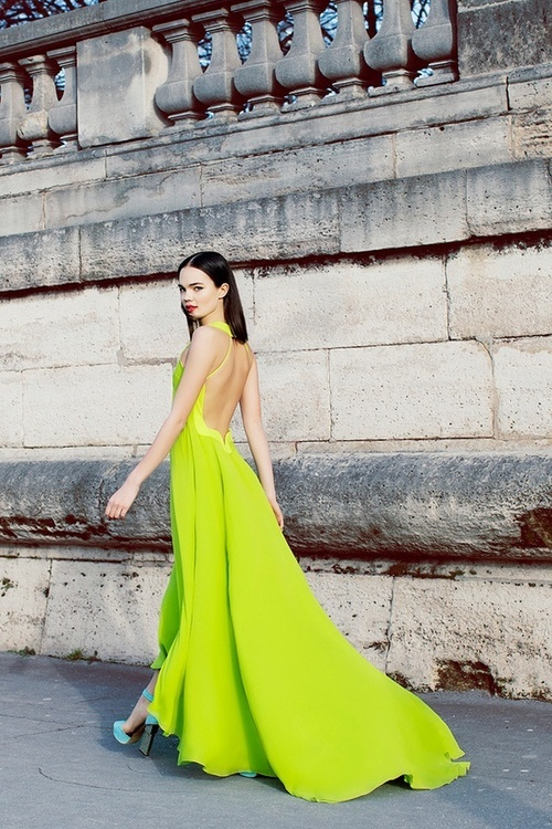 neon evening dress Dresses That Make Your Eyes Hurt!?