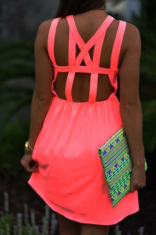 neon trend 2013 summer Dresses That Make Your Eyes Hurt!?