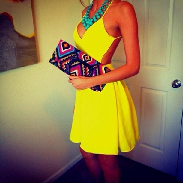 neon-yellow-mini-dress-look